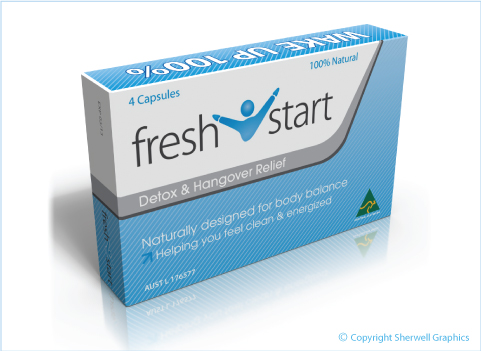3D Render of Fresh Start box